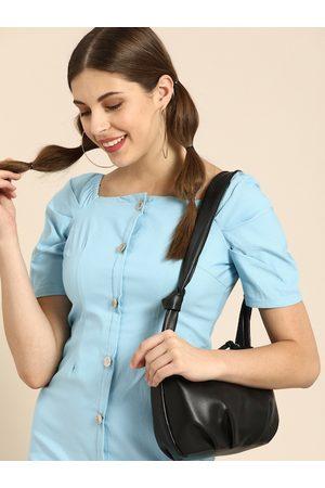 ATHENA Women Blue Solid Sheath Dress