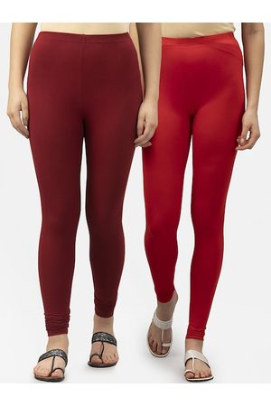 Style Quotient Women Pack Of 2 Solid Leggings