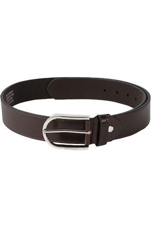 Peter England Men Brown Solid Belt