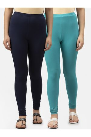 Style Quotient Women Pack Of 2 Solid Ankle-Length Leggings