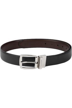 Peter England Men Black & Brown Solid Reversible Belt