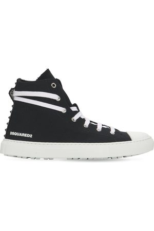 Dsquared2 Women Sneakers - 20mm San Diego Cotton Canvas Sneakers