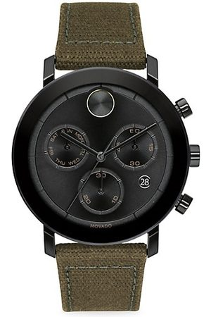 Movado BOLD Thin Evolution Chronograph Canvas-Strap Watch