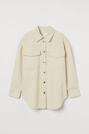 H&M Women Denim Jackets - Denim shirt jacket