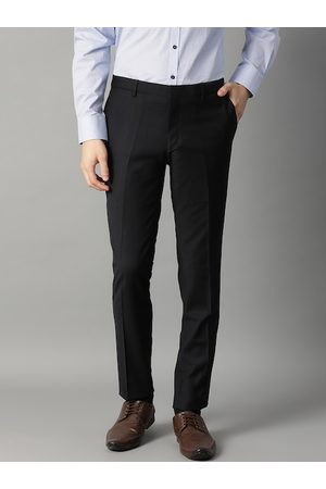 Bruun & Stengade Men Black Slim Fit Solid Formal Trousers
