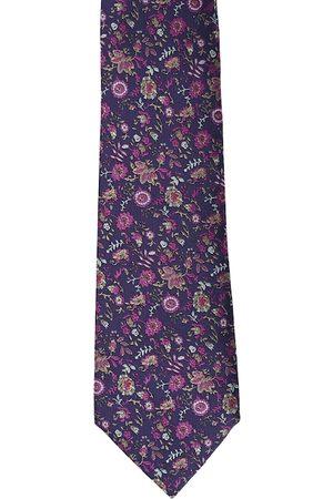 Calvadoss Men Purple & Pink Woven Design Broad Tie