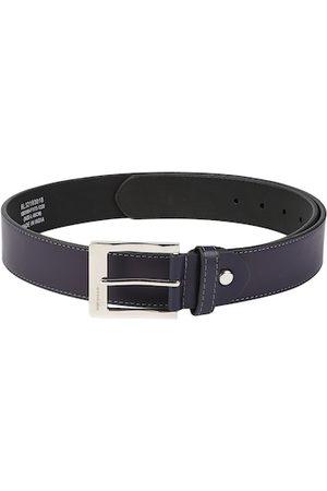 Peter England Men Navy Blue Solid Belt