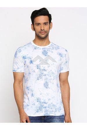 Mufti Men Short Sleeve - Men White Printed Round Neck T-shirt