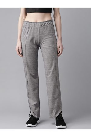 Cayman Women Grey Self Design Pure Cotton Track Pants