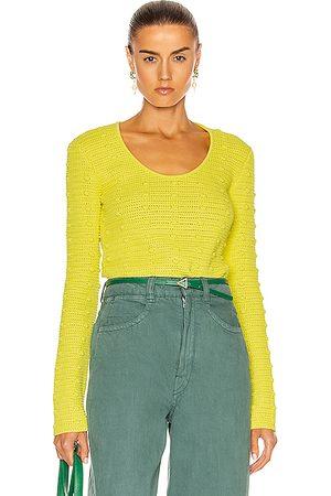 Bottega Veneta Pom Pom Sweater in Limoncello