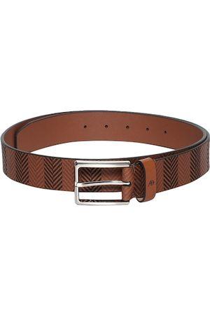 Arrow Men Brown Textured Leather Belt