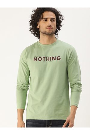 Difference of Opinion Men Green Printed Round Neck T-shirt