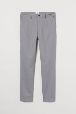 H&M Cotton chinos Skinny Fit - Grey