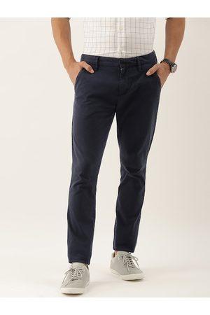 Calvin Klein Men Navy Blue Regular Fit Solid Chinos