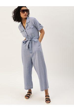 Style Quotient Women Jumpsuits - Women Blue Solid Basic Jumpsuit