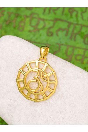 Voylla Men Gold-Plated OM Shaped Spiritual Saga Pendant