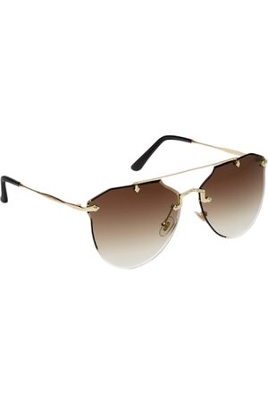 Get Glamr Women Brown Lens Oversized Sunglasses with UV Protected Lens SG-LT-CH-227D-32