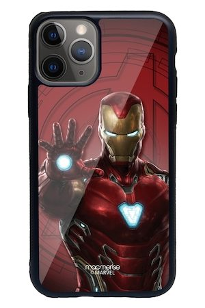 macmerise Red & Gold-Toned Iron Man Mark L Armor Pattern iPhone 11 Pro Max Back Case
