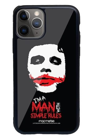 macmerise Black & Red Man With Simple Rules Printed iPhone 11 Pro Max Back Case