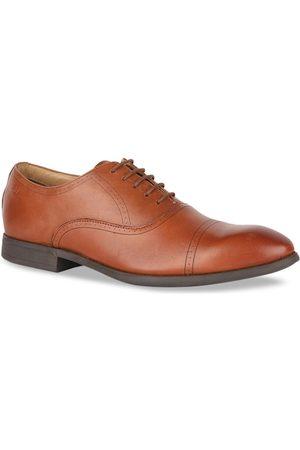 Bata Men Brown Solid Formal Leather Oxfords