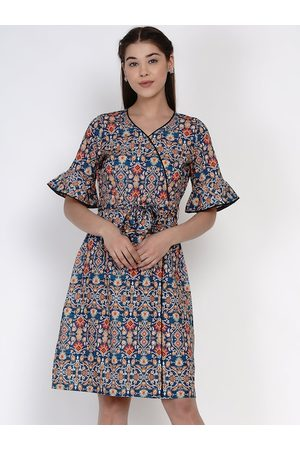 Texco Women Multicoloured Printed Fit and Flare Dress