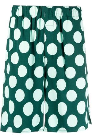 Ami Men Bermudas - Polka dot Bermuda shorts