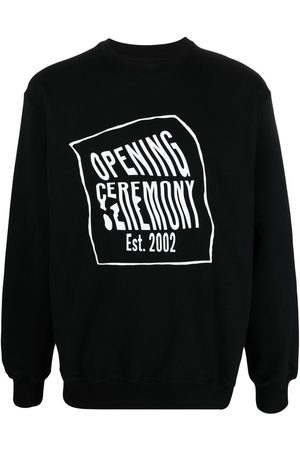 Opening Ceremony Men Sweatshirts - Logo-print cotton sweatshirt