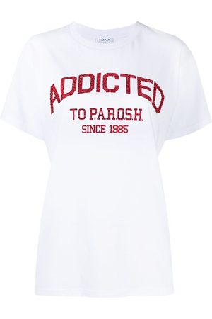 P.a.r.o.s.h. Women Short Sleeve - Embellished logo T-shirt
