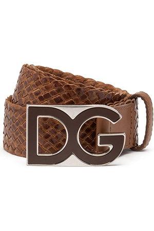 Dolce & Gabbana Men Belts - Woven logo-plaque belt