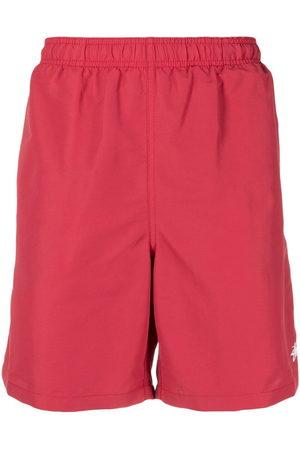 STUSSY Men Swim Shorts - Logo-print swim shorts