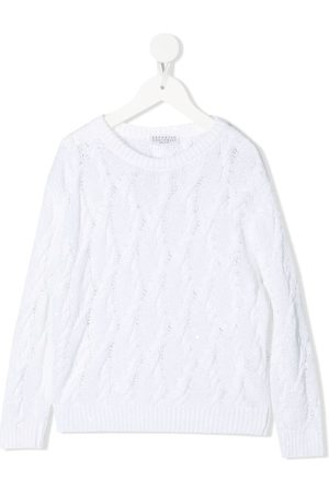 Brunello Cucinelli Girls Jumpers - Cable-knit jumper
