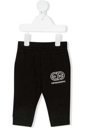 Emporio Armani Sports Trousers - Logo-print track pants