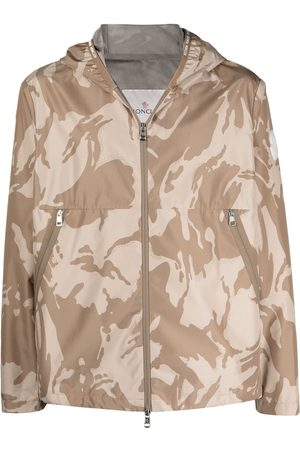 Moncler Men Jackets - Camouflage-print hooded jacket