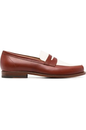 Scarosso Havana colour block loafers