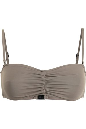 Bondi Born Thea ruched-detail bikini top
