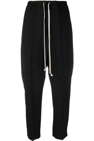 Rick Owens Women Formal Trousers - Drawstring cropped wool trousers