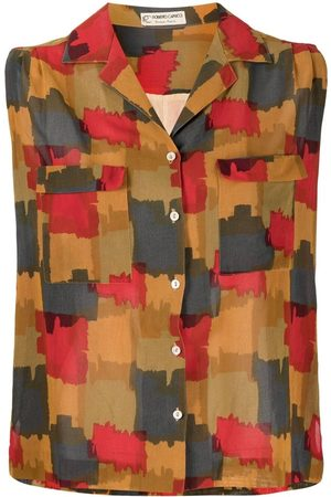 A.N.G.E.L.O. Vintage Cult Women Tank Tops - 1970s abstract-print sleeveless shirt