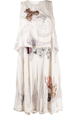 A.N.G.E.L.O. Vintage Cult 1980s floral embroidery top and dress set