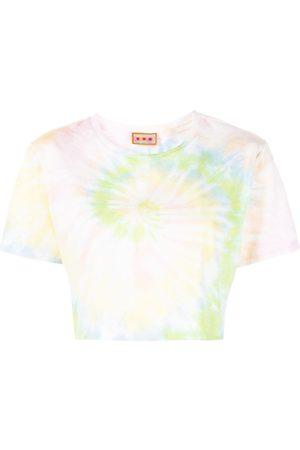 LHD Tie-dye cropped T-shirt