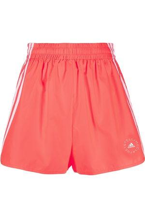 Stella McCartney Women Sports Shorts - Logo-print high-waisted running shorts