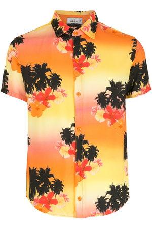 AMIR SLAMA Men Short Sleeve - Ilha de Hibiscus shirt