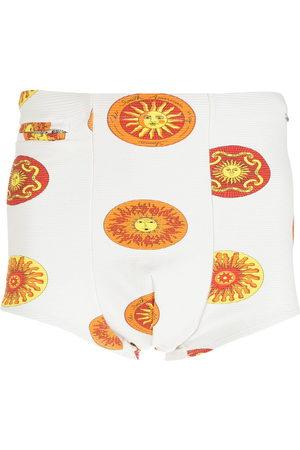 AMIR SLAMA Sol print swimming trunks