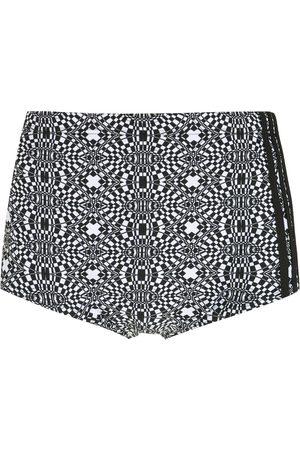 AMIR SLAMA Striped geometric print swimming trunks