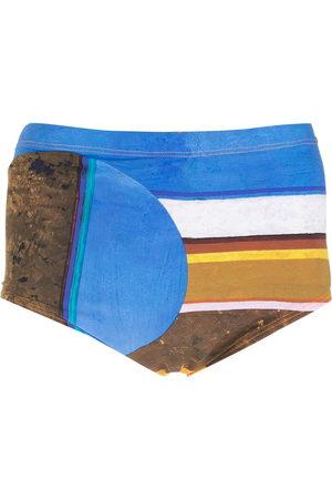 AMIR SLAMA Eco striped swimming trunks