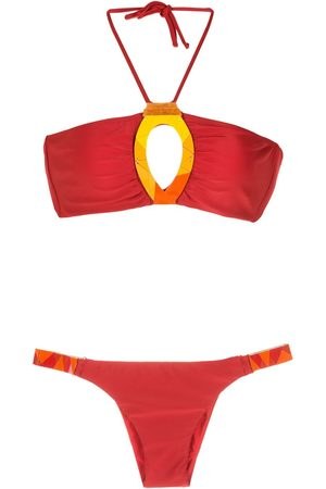 AMIR SLAMA Women Sets - Embroidered fibreglass bikini set