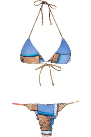 AMIR SLAMA Women Sets - Striped print Eco bikini set