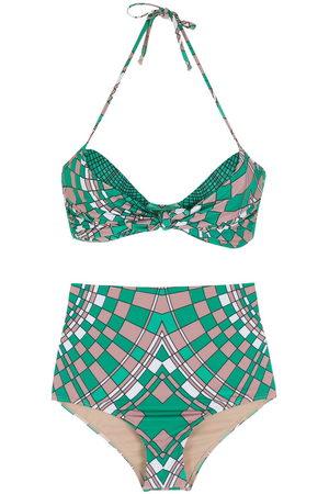 AMIR SLAMA Geometric print bikini set