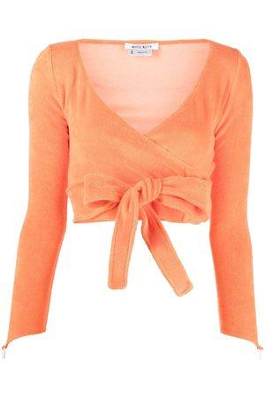 Maisie Wilen Women Crop Tops - Knitted wrap crop top