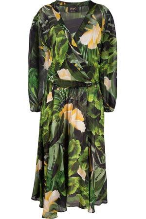 Liu Jo Women Printed Dresses - Tropical-print midi dress