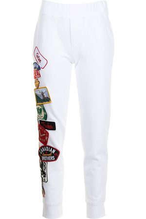 Dsquared2 Women Trousers - Patch-detail track pants
